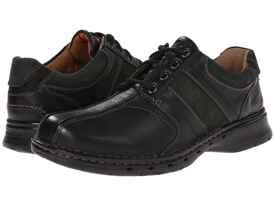 Clarks - Un.coil (Black Leather) Men