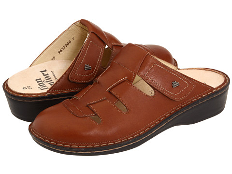 Finn Comfort - Java - 2520 (Coffee Palmer Leather) Women's Clog Shoes
