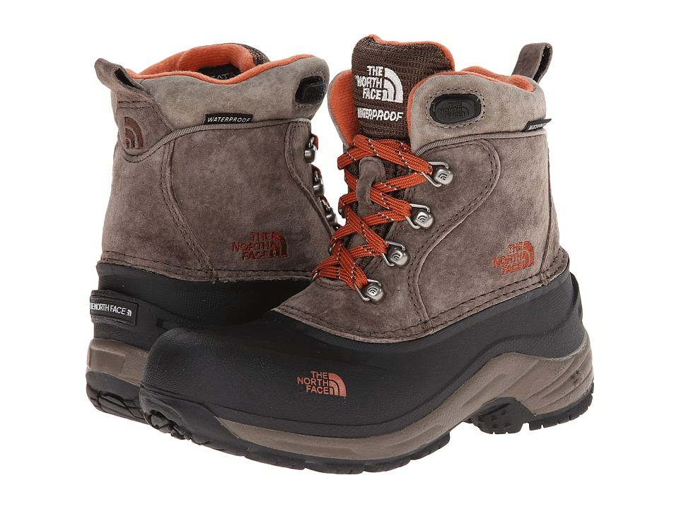 The North Face Kids - Chilkat Lace (Toddler/Little Kid/Big Kid) (Mud Pack/Sienna Orange) Boys Shoes