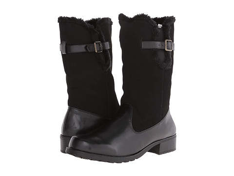 Trotters - Blizzard (Black Smooth) Women's Zip Boots