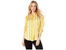 Juicy Couture Awning Stripe Satin Shirt