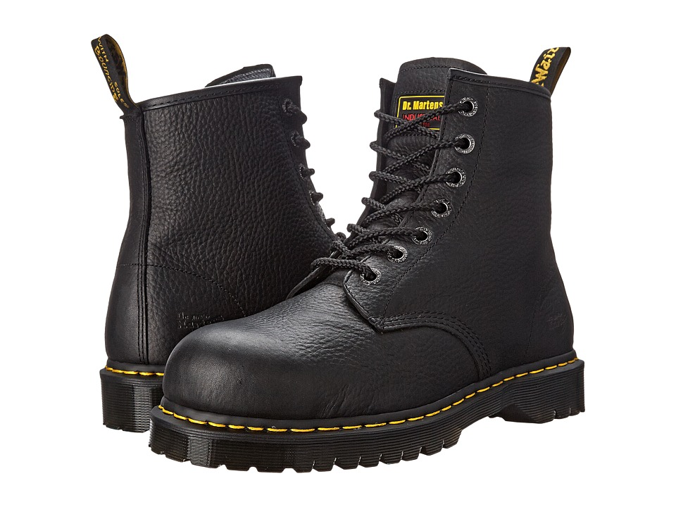 Dr. Martens - 7B10 ST 7 Eye Boot (Black) Work Boots