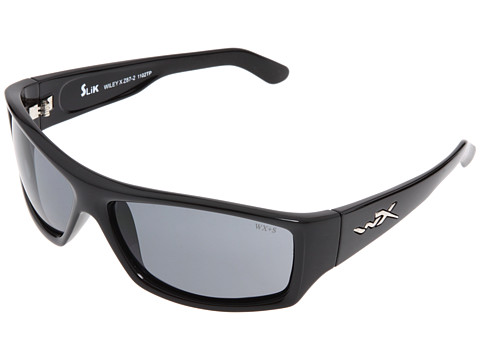 Wiley X Eyewear - Slik (Gloss Black/Smoke Lens) Sport Sunglasses