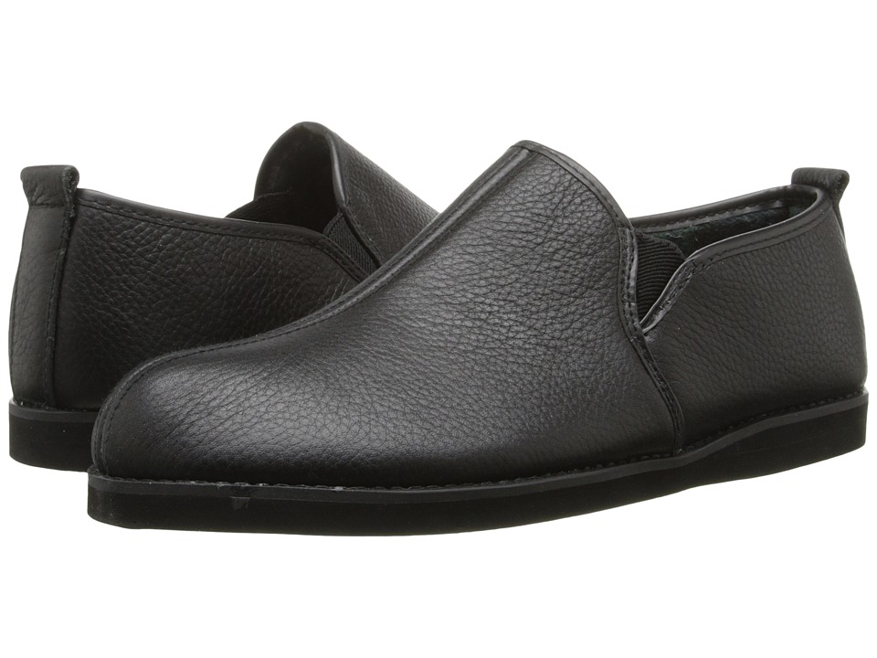 L.B. Evans - Admiral (Black Leather) Men's Slippers