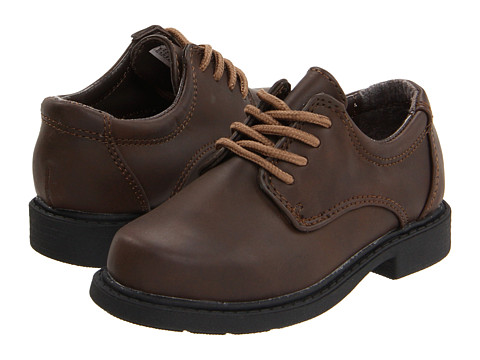 Hush Puppies Kids Dylan (Toddler/Little Kid) (Brown Smooth) Boys Shoes