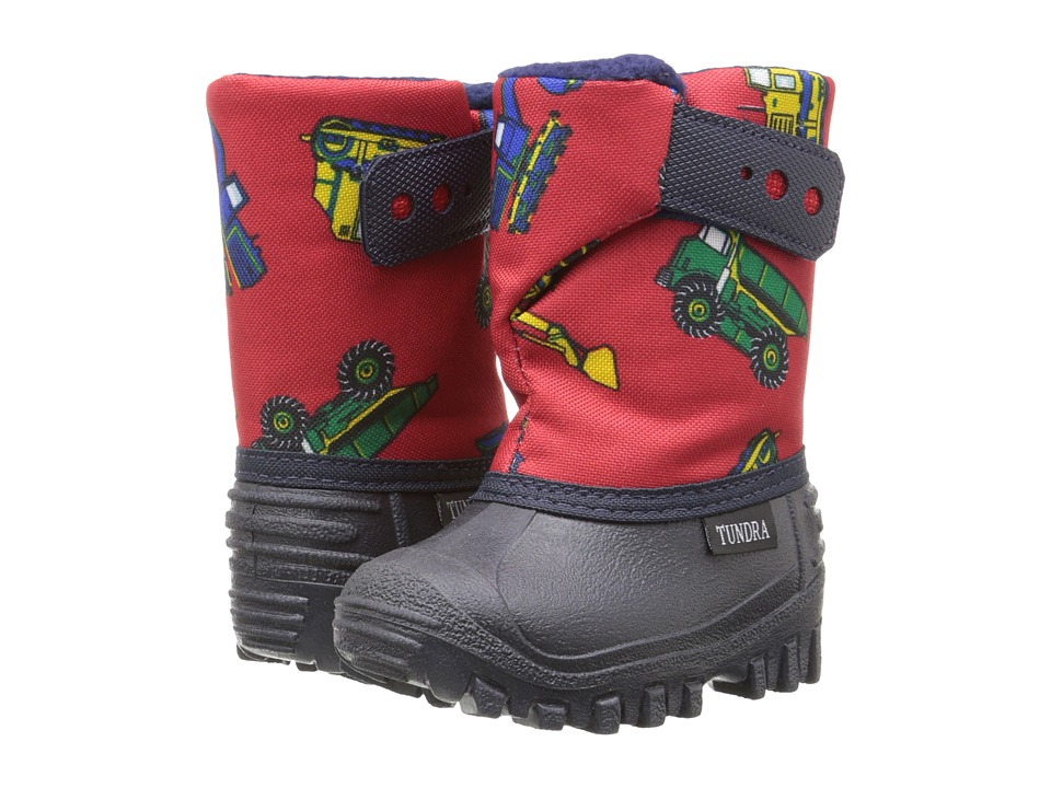 Tundra Boots Kids - Teddy 4 (Toddler/Little Kid) (Navy/Red Truck) Boys Shoes