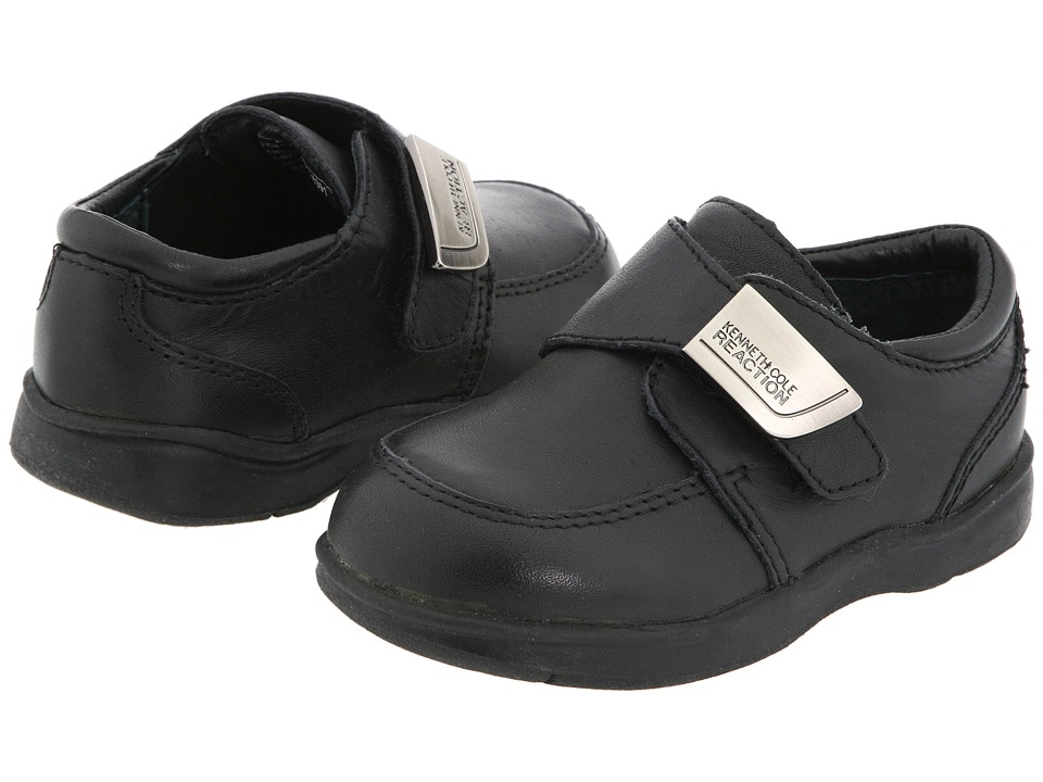 Kenneth Cole Reaction Kids - Tiny Flex (Infant/Toddler) (Black Burnished Leather) Boys Shoes