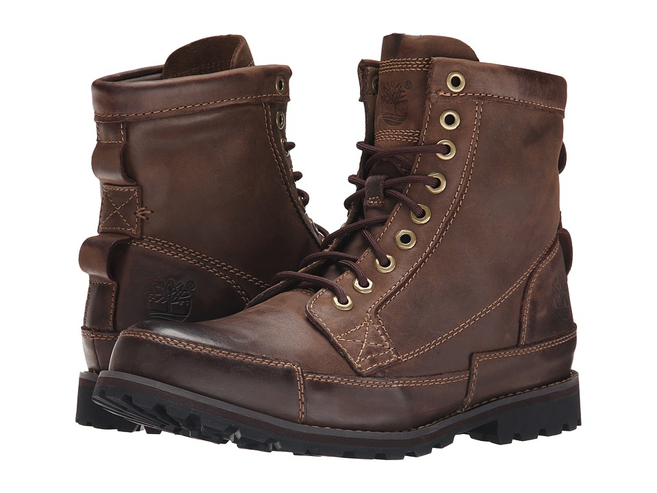 Timberland - Earthkeepers Rugged Original Leather 6 Boot (Dark Brown) Men's Lace-up Boots