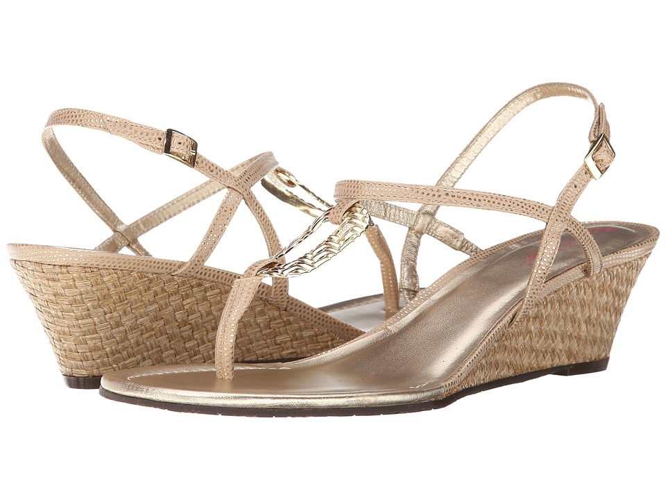 Lilly Pulitzer - As Good As Gold (Gold Metal) Women's Wedge Shoes