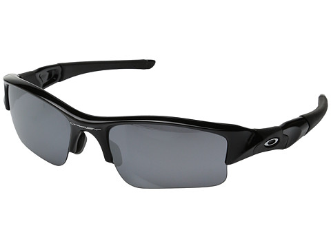 Oakley - Flak Jacket XLJ Asian Fit (Jet Black/Black Iridium Lens) Sport Sunglasses