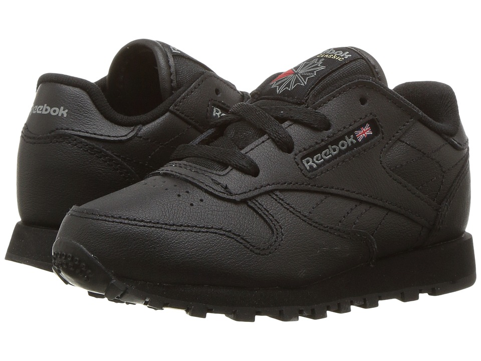 Reebok Kids - Classic Leather (Infant/Toddler) (Black) Boys Shoes