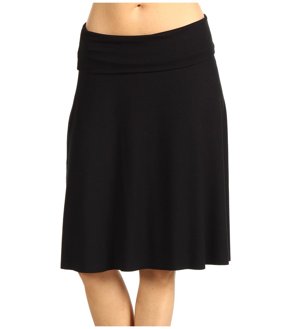 Three Dots Fold-Over Skirt (Black) Women
