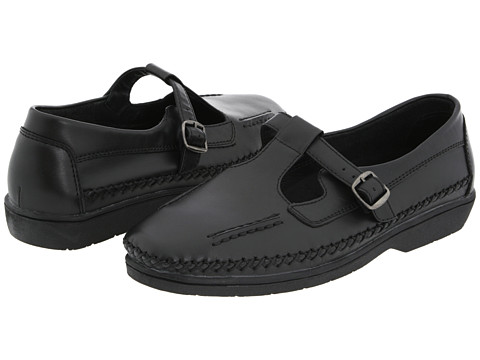 Propet - Caf Walker Medicare/HCPCS Code=A5500 Diabetic Shoe (Black Leather) Women's Hook and Loop Shoes
