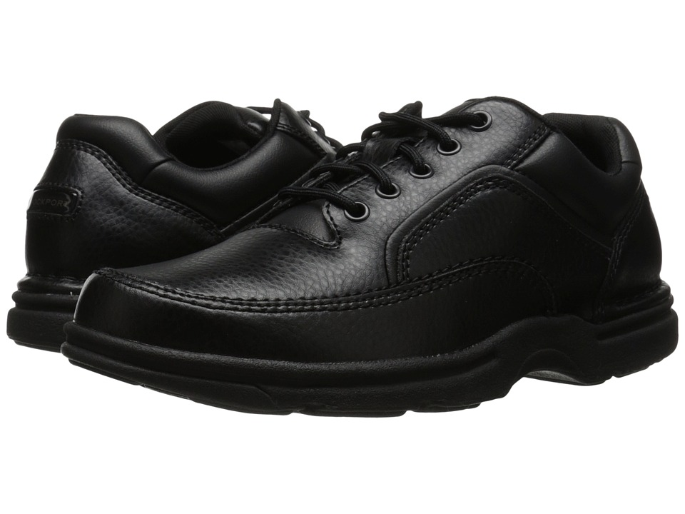Rockport - Eureka (Black Leather) Men's Lace up casual Shoes