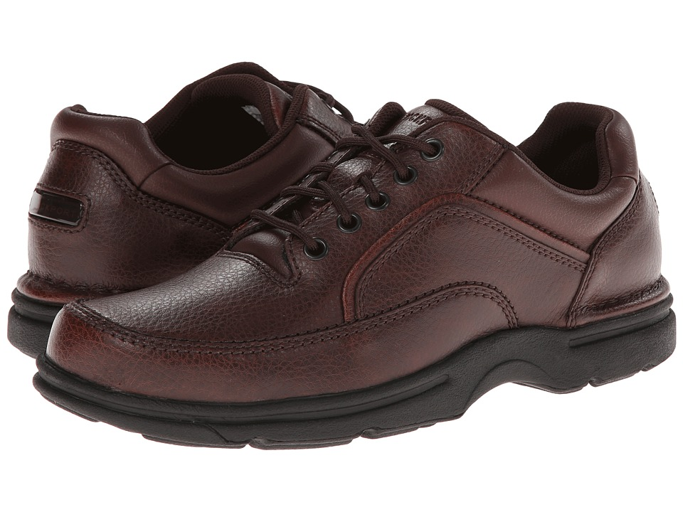 Rockport - Eureka (Brown Leather) Men's Lace up casual Shoes