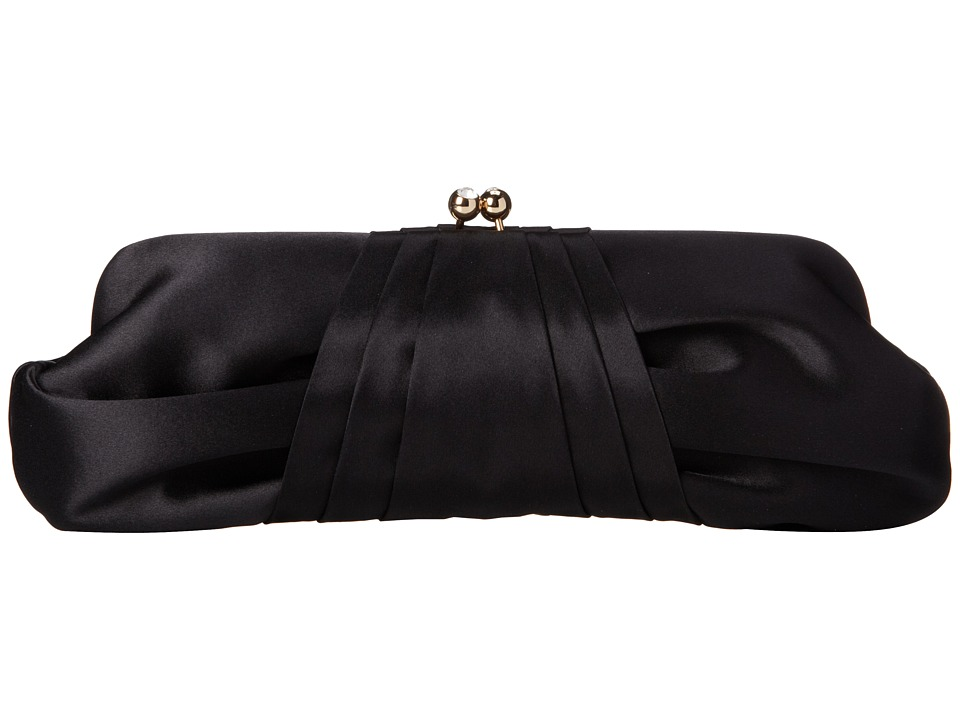 Franchi Handbags - Azure Tafetta Clutch (Black) Clutch Handbags