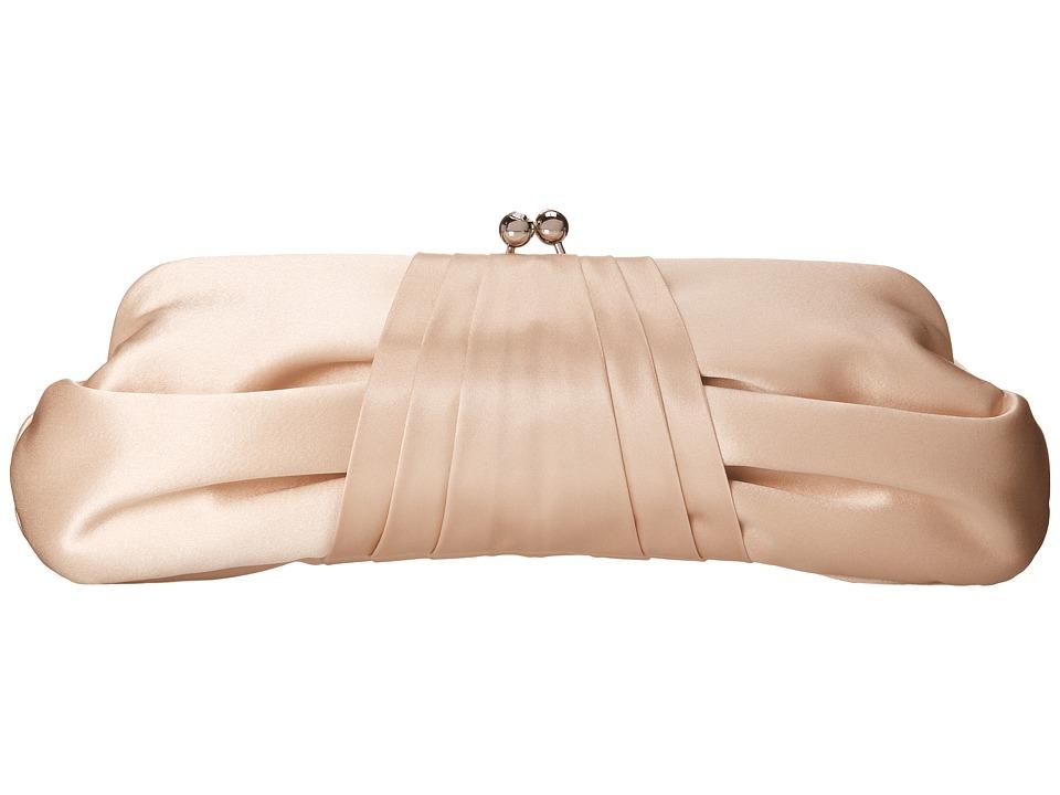 Franchi Handbags - Azure Tafetta Clutch (Champagne) Clutch Handbags