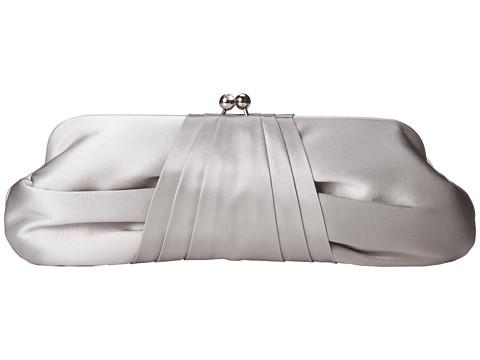 Franchi Handbags - Azure Tafetta Clutch (Silver) Clutch Handbags