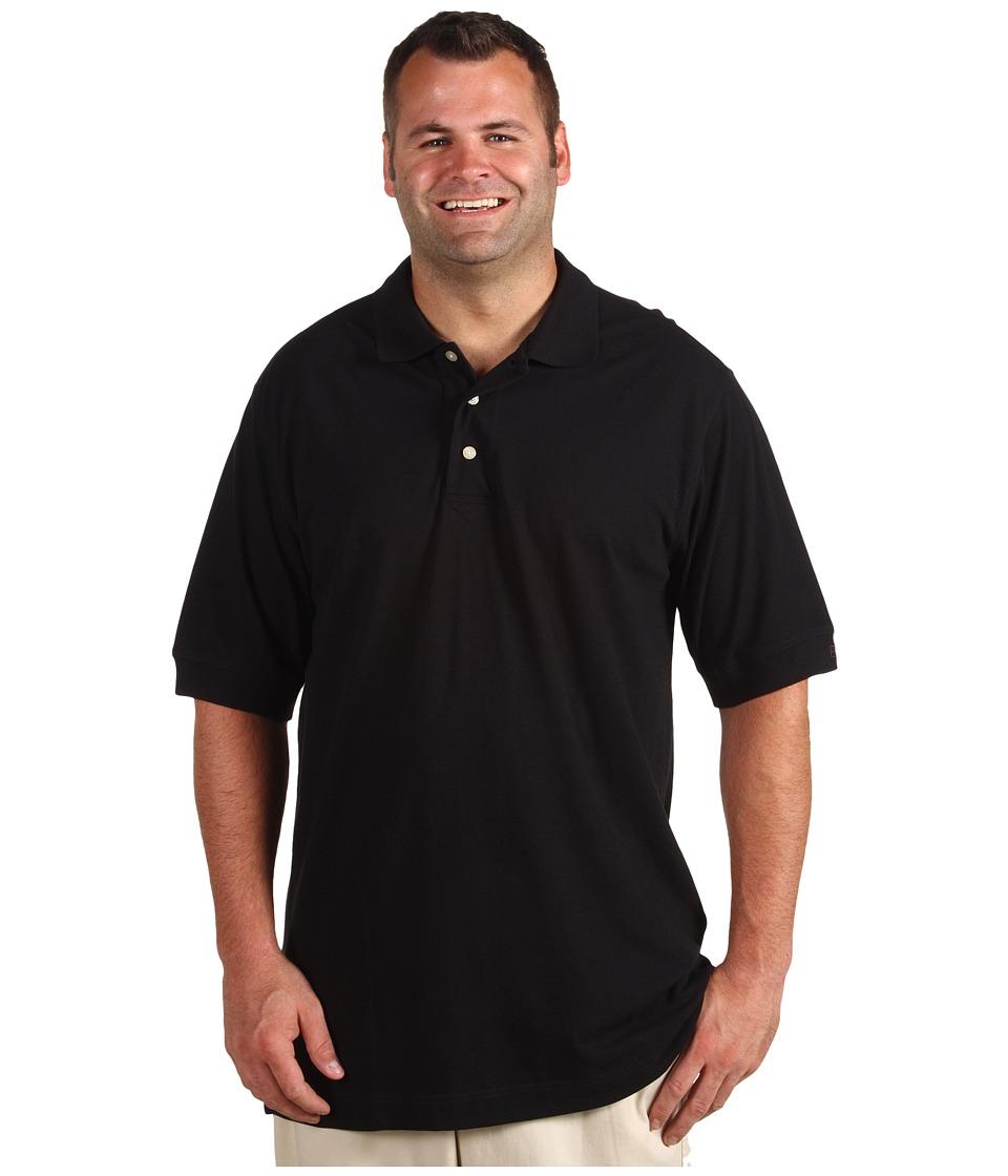 Cutter & Buck Big and Tall Big Tall Tournament Polo Shirt Mens Clothing (Black)