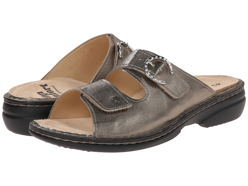 Finn Comfort - Mumbai - 82556 (Oro (Pewter) Leather) Women's Sandals