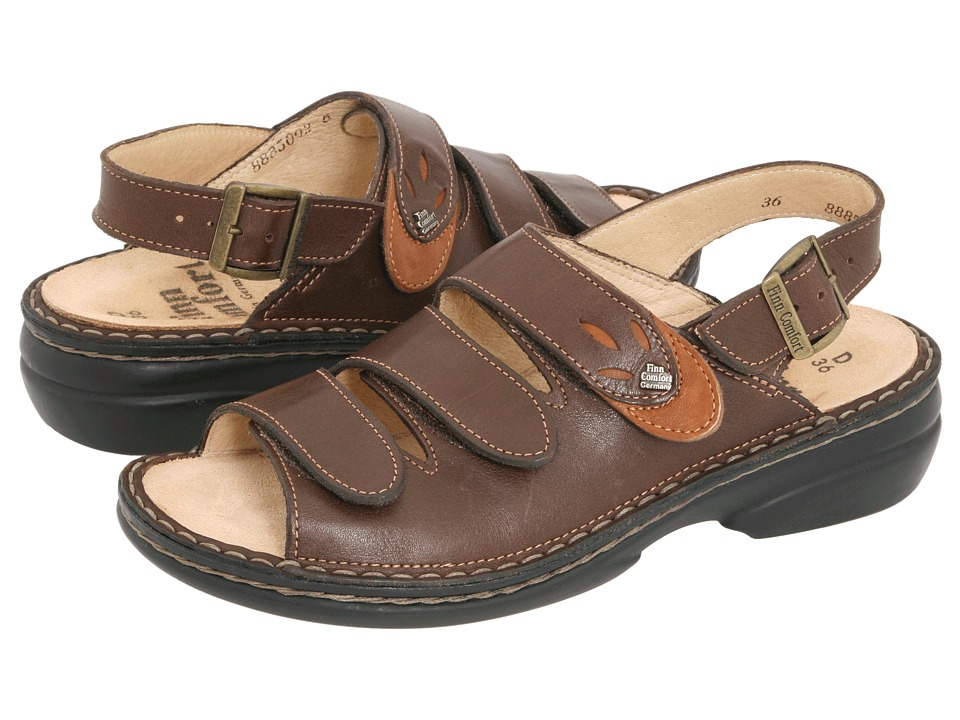Finn Comfort - Saloniki - 82557 (Kaffee/Camel Leather) Women's Sandals