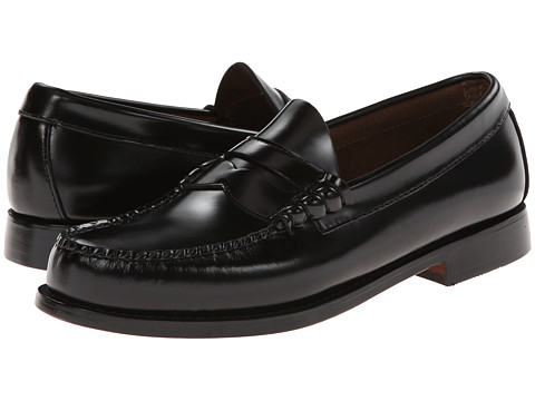Bass - Larson (Black Box Leather) Men's Slip on Shoes