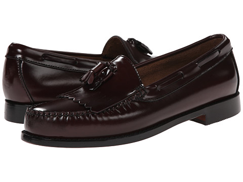 Bass - Layton Kiltie Tassel (Burgundy Polished Box Calf Leather) Men's Slip on Shoes