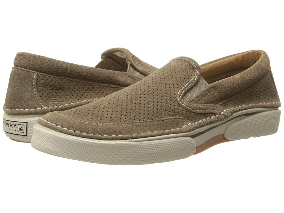 Sperry - Largo Slip On (Taupe Suede) Men's Slip on Shoes