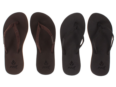 Reef - Ginger 2-Pair Variety Pack (Black/Black & Brown/Brown) Women's Sandals