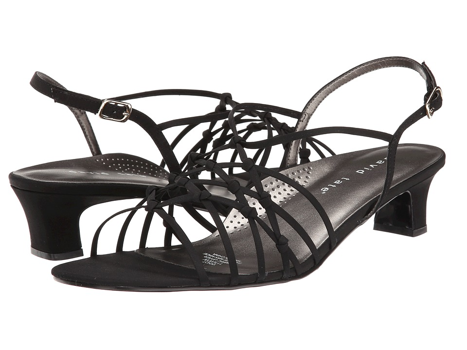David Tate - Yknot (Black Peau) Women's Sandals