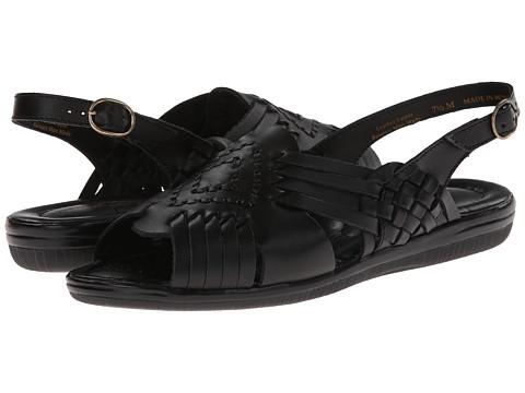 Softspots - Tela (Black Leather) Women's Sandals
