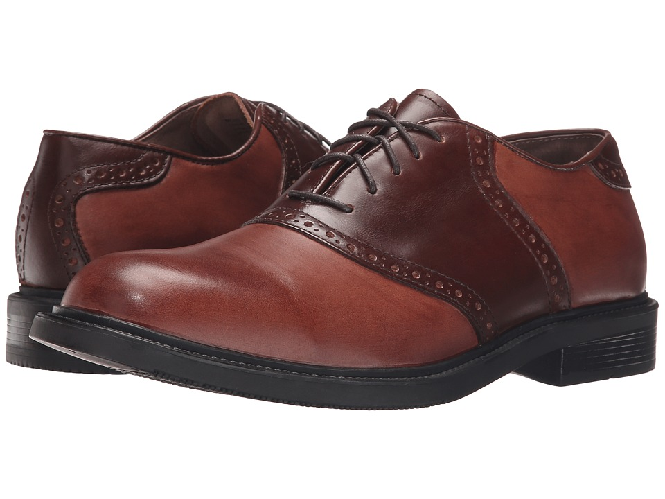 Florsheim - Dryden (Brown Leather) Men's Plain Toe Shoes