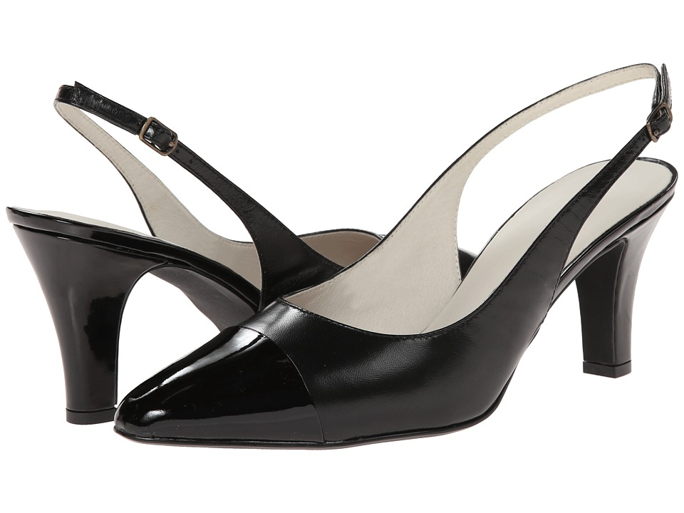David Tate Grace (Black Leather/ Black Patent Tip) Women