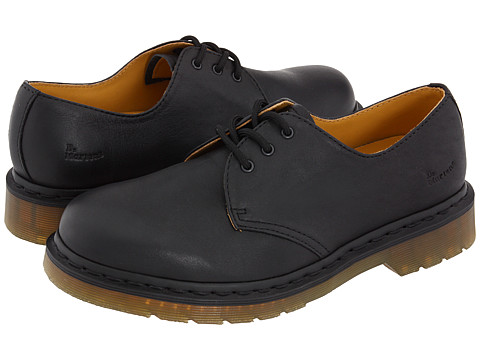 Dr. Martens - 1461 3-Eye Gibson (Black Nappa/Black Welt Stitch) Lace up casual Shoes