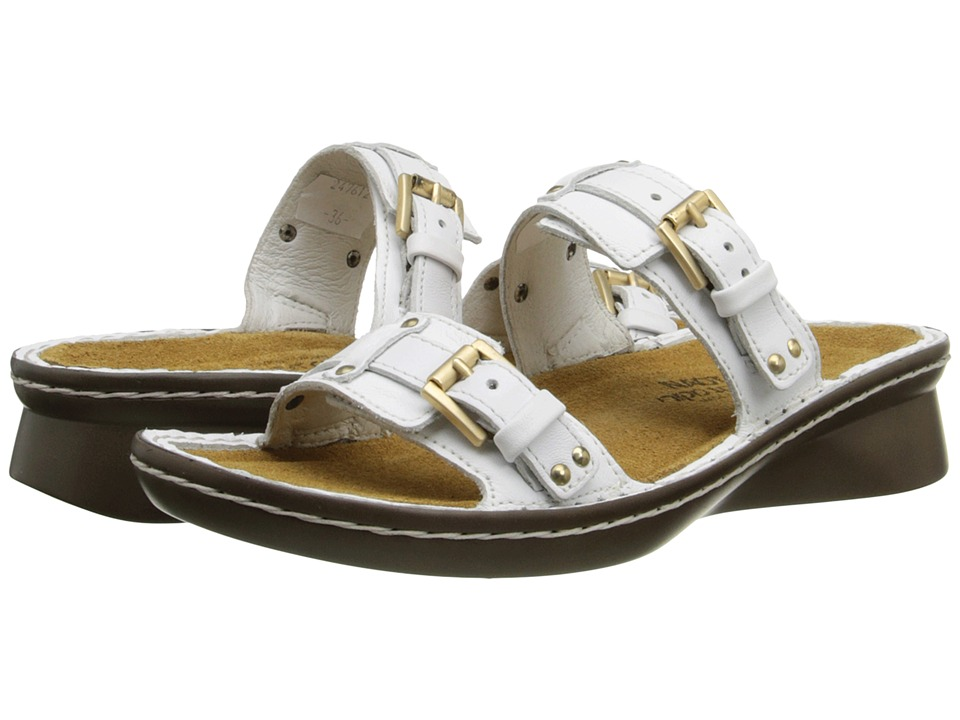 Naot Footwear - Karaoke (White Leather) Women's Slide Shoes