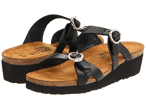 Naot Footwear - Kate (Black Matte Leather) Women's Sandals