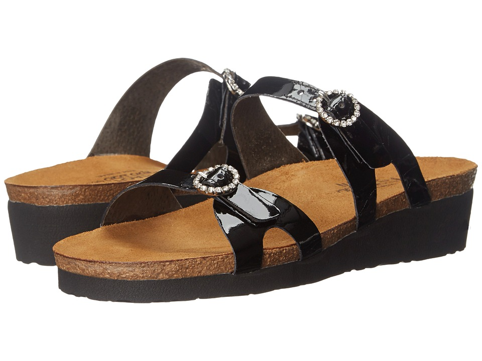Naot Footwear - Kate (Black Patent Leather) Women's Sandals