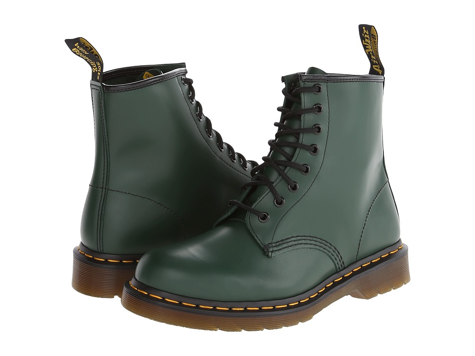 Dr. Martens - 1460 (Green Smooth) Lace-up Boots