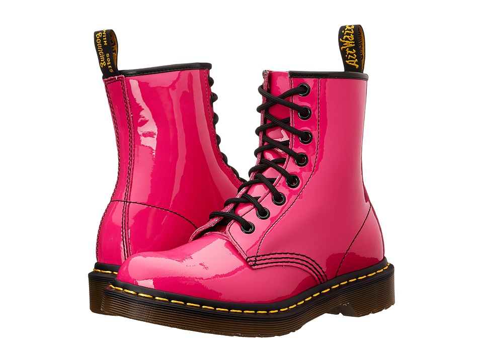 Dr. Martens - 1460 W (Hot Pink Patent) Women's Lace-up Boots