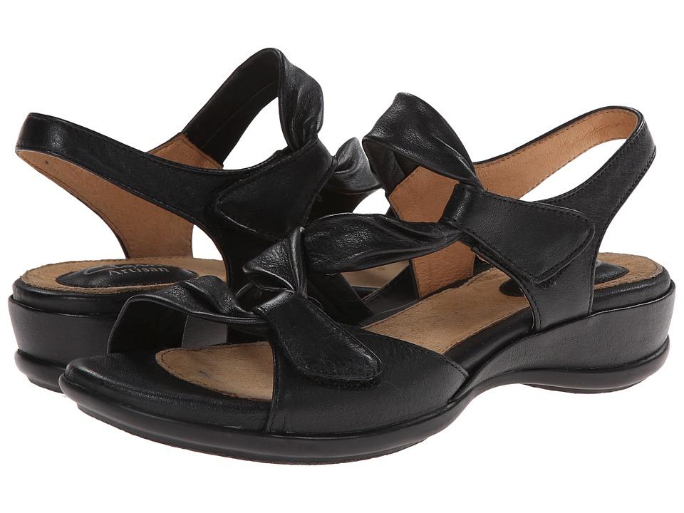 Clarks - Lucena (Black Leather) Women's Sandals