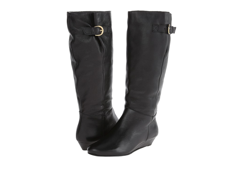 Steven - Intyce (Black Leather) Women's Pull-on Boots