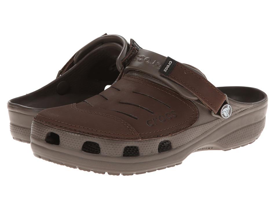 Crocs - Yukon (Chocolate/Chocolate) Men's Clog Shoes