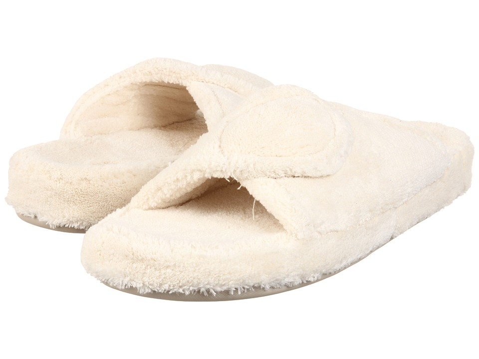 Acorn - New Spa Slide (Natural Fabric) Women's Slippers