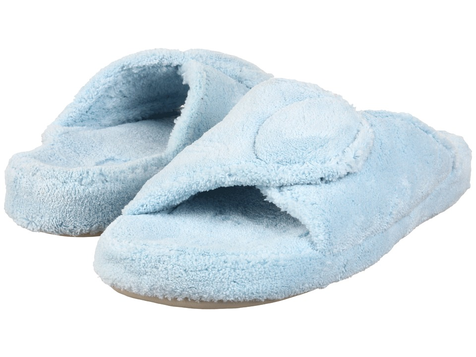 Acorn - New Spa Slide (Powder Blue Fabric) Women's Slippers