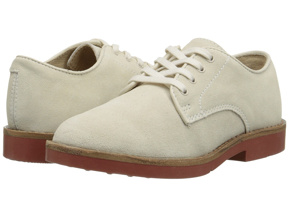 Polo Ralph Lauren Kids - Barton Oxford (Little Kid/Big Kid) (White Suede) Boys Shoes