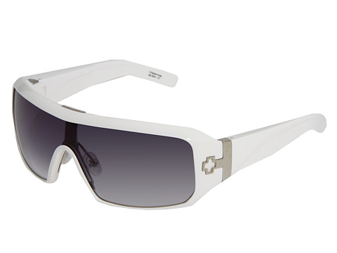 Spy Optic - Haymaker (Shiny White/Black Fade Lens) Sport Sunglasses