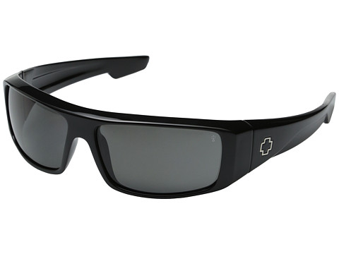 Spy Optic - Logan Polarized (Black/Grey Polarized Lens) Sport Sunglasses