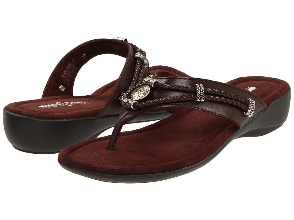 Minnetonka - Silverthorne Thong (Brown Leather) Women's Sandals