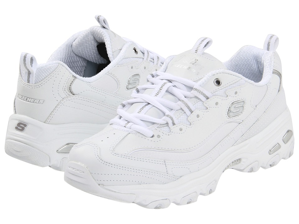 SKECHERS - D'Lites (White) Women's Lace up casual Shoes