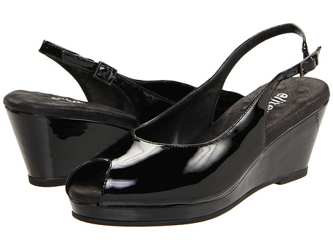 Walking Cradles - Natasha (Black Patent) Women's Wedge Shoes